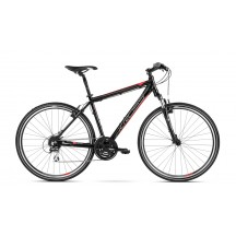 Bicicleta Kross Evado 3.0 black red glossy 2018