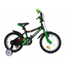 Bicicleta Kross DENIS 16 black green red glossy 2018