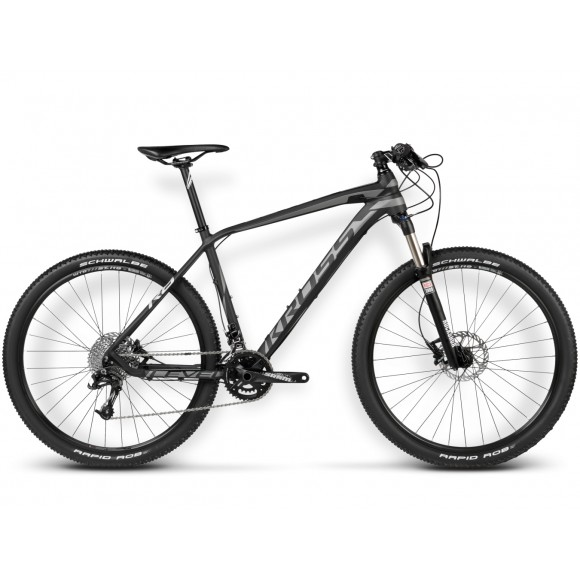 Bicicleta Kross Level R8 black-graphite-silver matt 2016