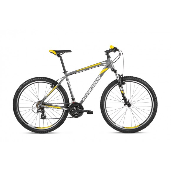 Bicicleta Kross Hexagon 2.0 27 graphite-silver-yellow glossy 2021