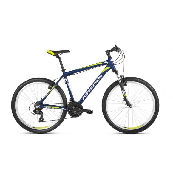 Bicicleta Kross Hexagon 26 navy blue-white-lime matte 2021