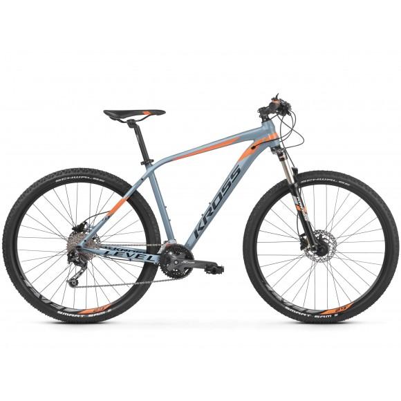Kross Level 4.0 S 27 grey-orange-glossy 2021
