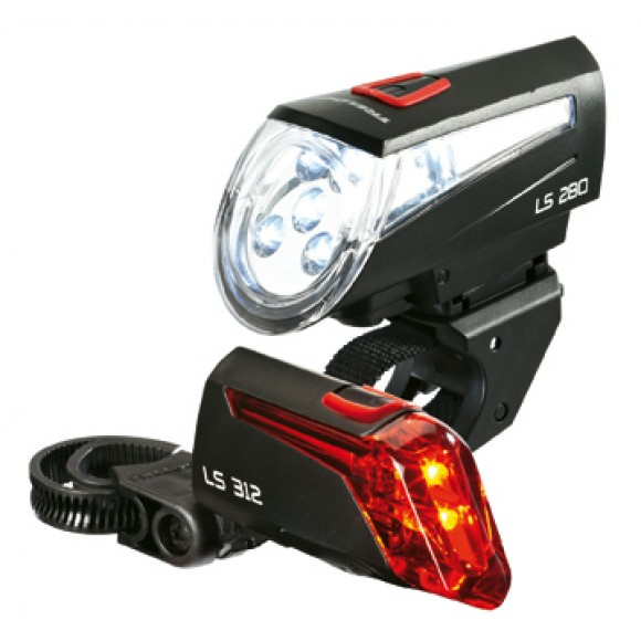 Lumina Bicicleta Set far LS 280 fata/LS 312 spate