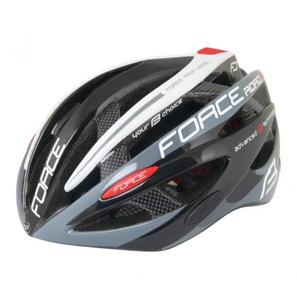 Casca Force Road Pro negru/gri/alb