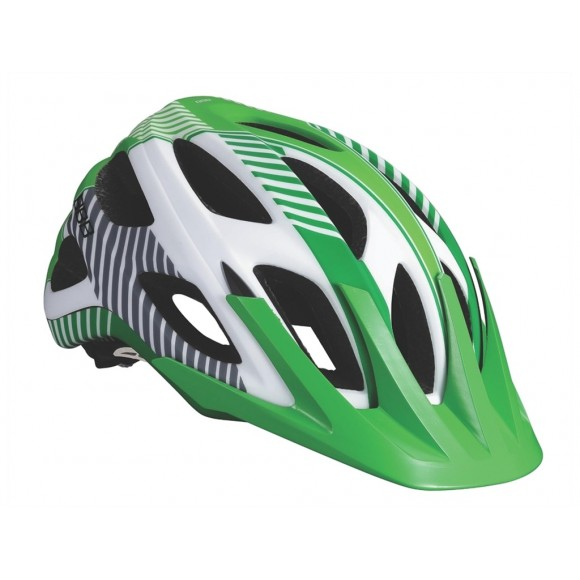 BBB Casca Nerone alb mat/verde