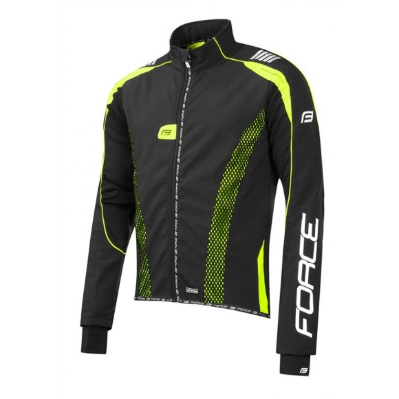 Jacheta Force X72 PRO Men softshell negru-fluo XS