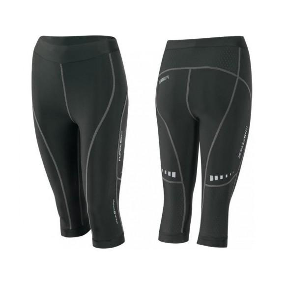 Pantaloni 3/4 Force Lady Fitness fara bazon negri