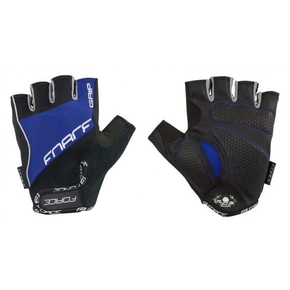 Manusi Force Grip gel negru/albastru
