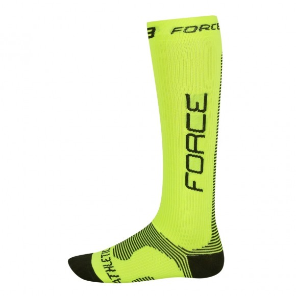 Sosete Force Athletic compression fluo/negru SM
