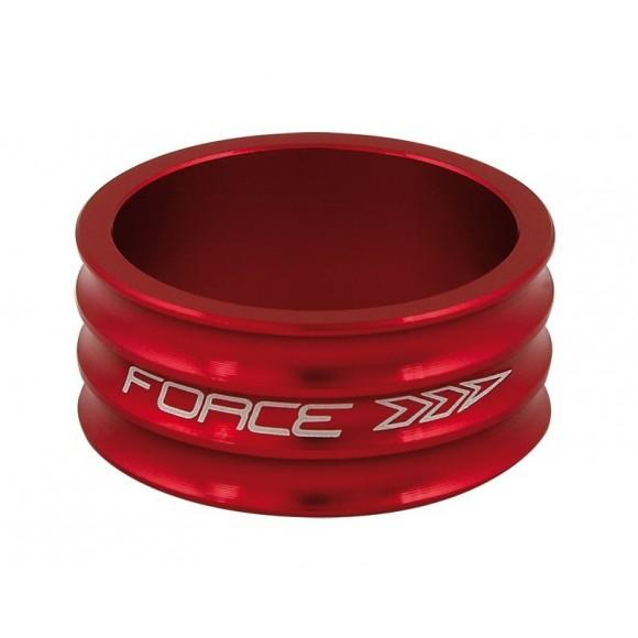 Distantier furca Force 1.1/8 15 mm al. rosu