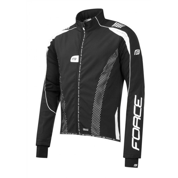 Jacheta Force X72 PRO Men softshell negru-alb XL