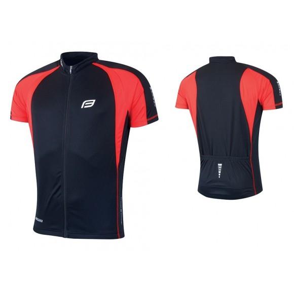 Tricou ciclism Force T10 negru/rosu S
