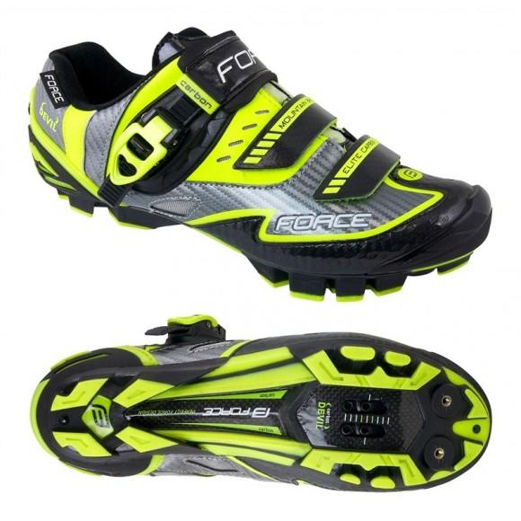 Pantofi Force MTB Carbon Devil fluo