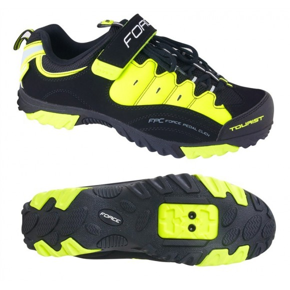Pantofi Tourist Force negru/fluo 47