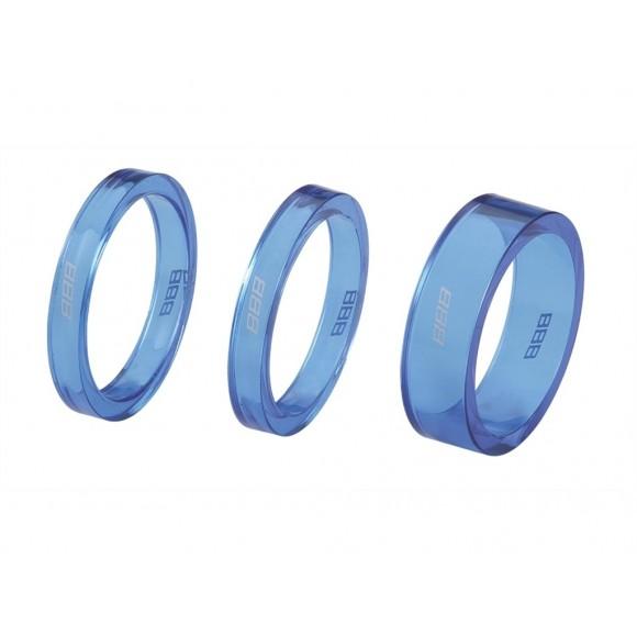 BBB Distantier furca BHP-37 1-1/8 2x5mm 1x10mm albastru transparent
