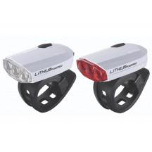 BBB Set lumini SparkCombo fata-spate albe reincarcabile baterie Litiu