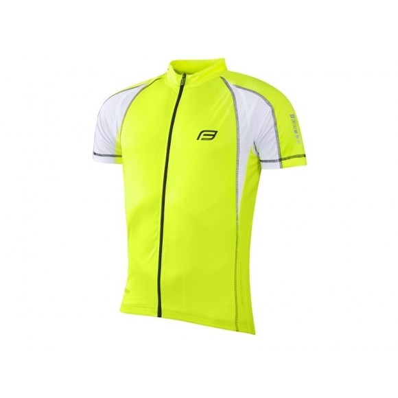 Tricou ciclism Force T10 fluo S