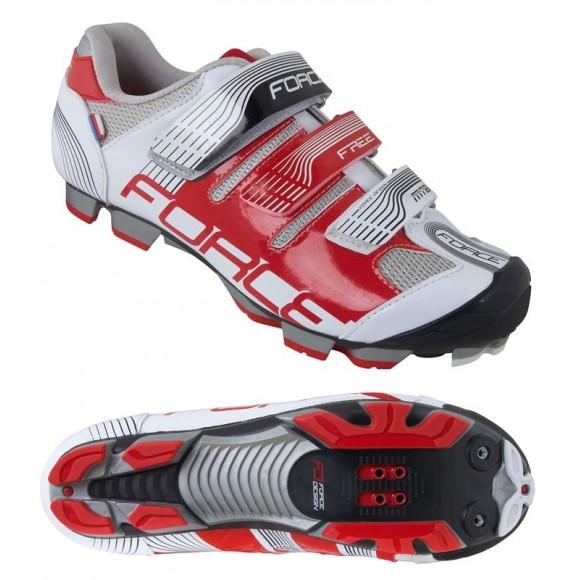 Pantofi Force Free MTB alb/rosu