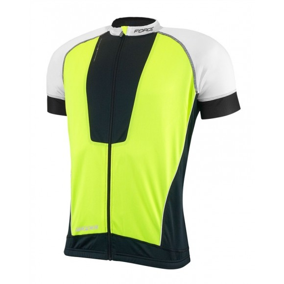 Tricou ciclism Force Air negru/alb/fluo