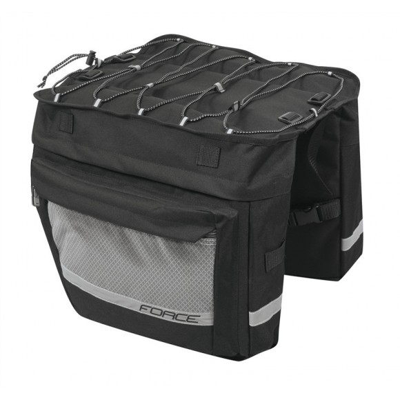 Geanta portbagaj spate Force Noem 2x18l neagra