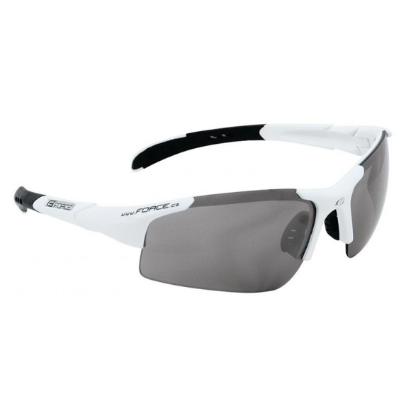 Ochelari Force Sport albi cu lentila fumurie