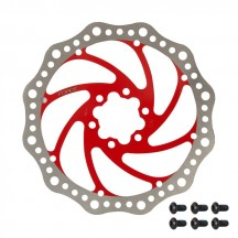 Disc frana Force 180mm 6 suruburi rosu