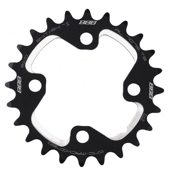 Placa pedalier BBB MTBGear comp. 2x10 Shim. XT 24T/64mm