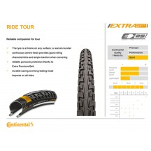 Anvelopa Continental Ride Tour 16*1.75 (47-305)-negru
