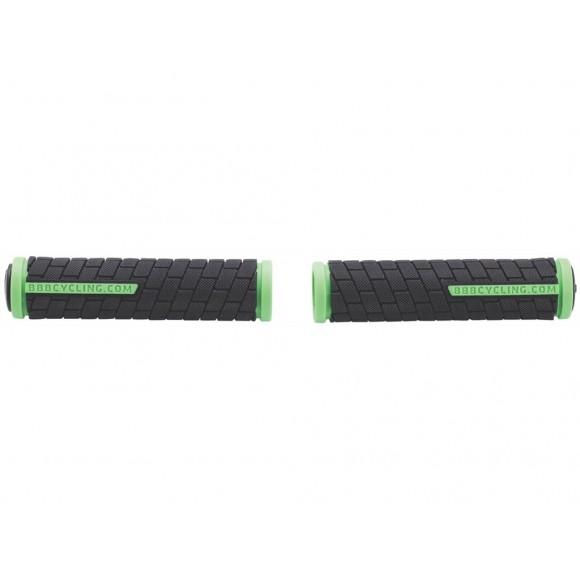 BBB Mansoane BHG-06 DualGrip 125mm negru/verde